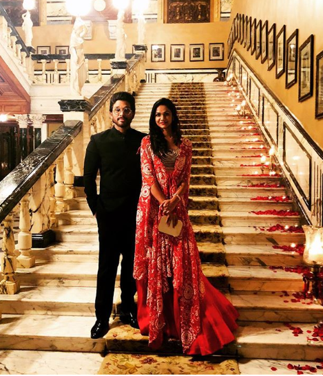 Allu Arjun and Sneha Reddy make for one royal couple at a best friend's wedding