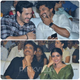 Photos: Samantha and Akhil Akkineni at Nagarjuna and Nani's grand Devadas audio launch