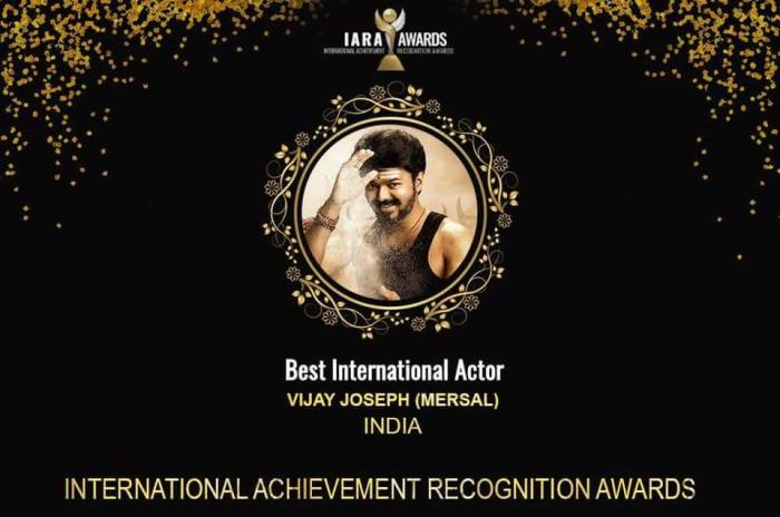 IARA 2018: Thalapathy Vijay wins Best International Actor Award for Mersal