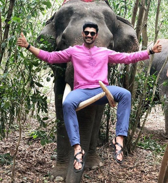 Sreenivas Bellamkonda gets trolled for sharing a picture with an elephant during the film's shoot in Thailand