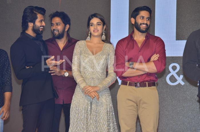 Photos: Vijay Deverakonda graces Naga Chaitanya, Nidhhi Agerwal and R Madhavan's Savyasachi promotions