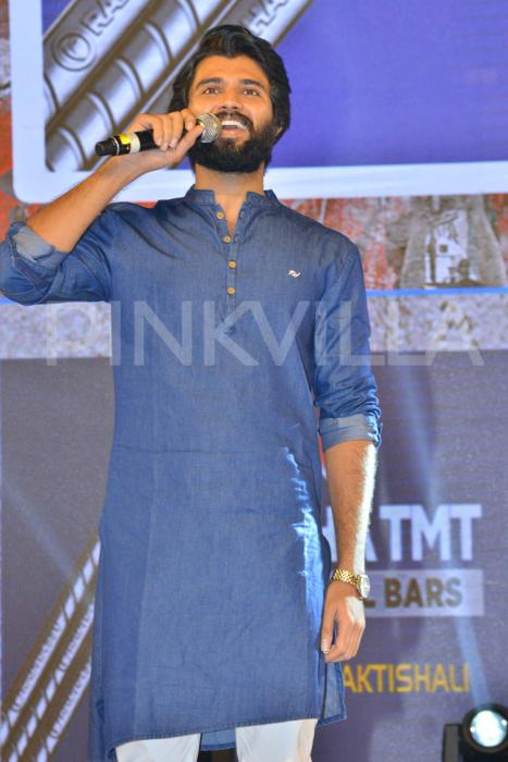 Photos: Vijay Devarakonda mobbed by hundreds of fans at NOTA promotions
