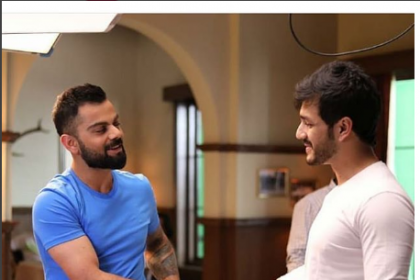 When Akhil Akkineni bumped into Virat Kohli in Hyderabad; view PICTURE