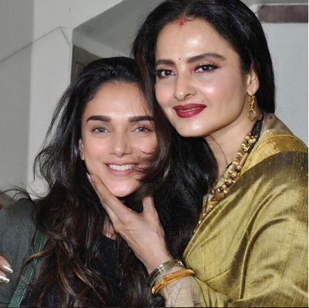 Aditi Rao Hydari shares a picture perfect moment with timeless beauty Rekha on her 64th birthday