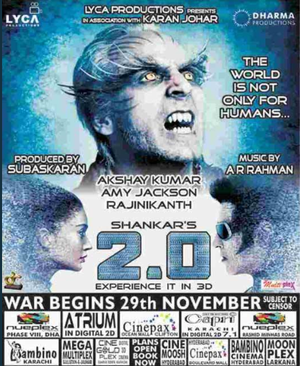 Akshay Kumar and Rajinikanth's 2.0 cleared for release in Pakistan, witnesses record breaking advance booking
