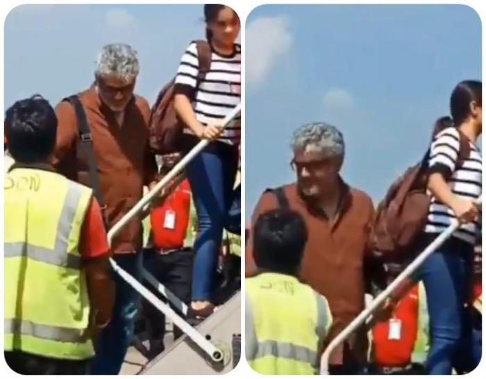 Ajith takes a break from Viswasam, leaves for a vacation in Goa; photos