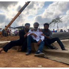 First picture of Ram Charan and Jr NTR from the sets of SS Rajamouli's RRR is out