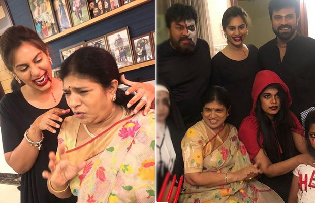 Halloween 2018: Chiranjeevi, Ram Charan and the whole mega family dresses up in scary costumes; views photos