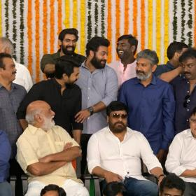 Rana Daggubati and Chiranjeevi grace the launch of Ram Charan and Jr NTR starrer RRR; see photos