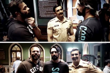 Simmba: Kichcha Sudeep bumped into Ranveer Singh and Rohit Shetty, congratulates them for the film; view photo