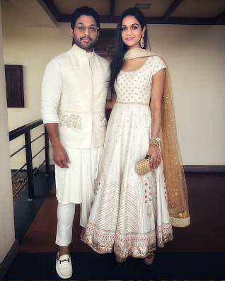 Allu Arjun and his wife Sneha chose to colour coordinate at a recent event and they look absolutely stunning