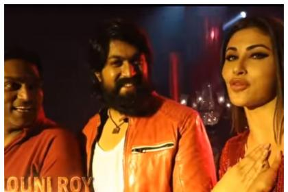 KGF Gali Gali BTS: Yash and Mouni Roy enjoy some candid moments while shooting for this item number