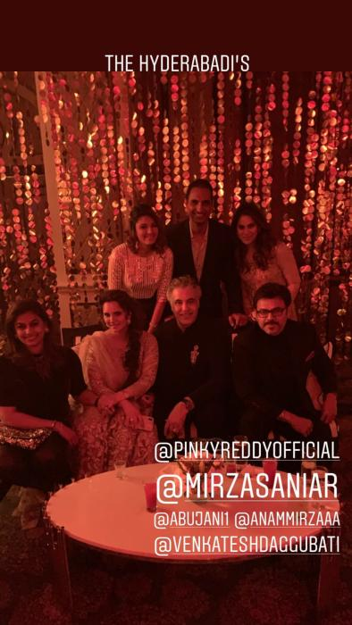 Kiara Advani, Ram Charan's wife Upasana, Venkatesh Daggubati at Priyanka Chopra Nick Jonas' wedding reception