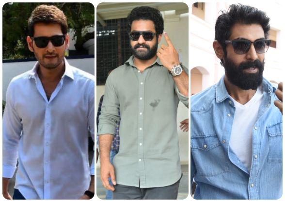 Photos: Mahesh Babu, Rana Daggubati, Sania Mirza and other celebs line up to vote for the Telangana Elections