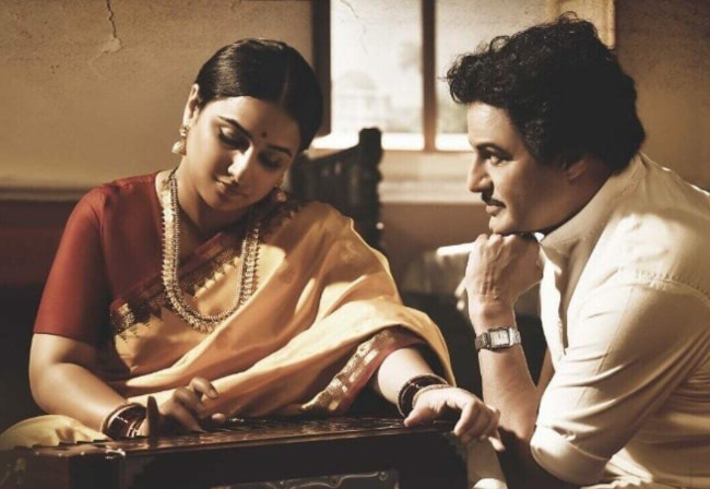 Vidya Balan's first look from the NTR biopic is out, and she looks elegant as his wife Basavatarakam