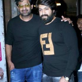 KGF star Yash and Baahubali star Prabhas spotted post dinner in Mumbai