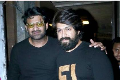 KGF star Yash and Baahubali star Prabhas spotted post dinner in Mumbai